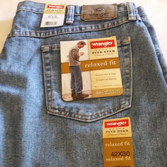 ab0946d6 Wrangler Jeans | Mens 5 Star Relaxed Fit Nwt Blue | Poshmark